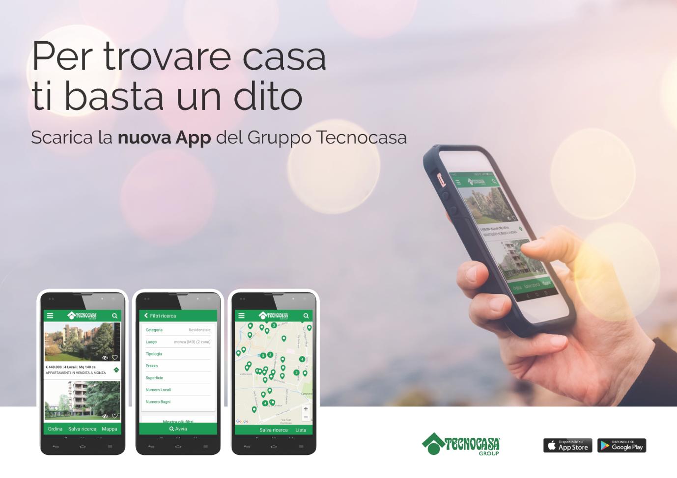 Nuova App gruppo Tecnocasa