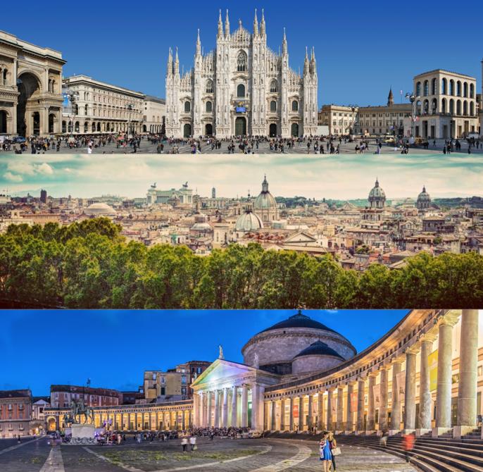 Due anni di mercato immobiliare a Milano, Roma e Napoli