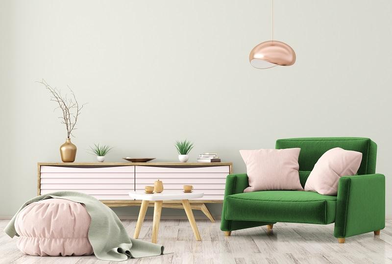 abbinamento dei colori complementari rosa