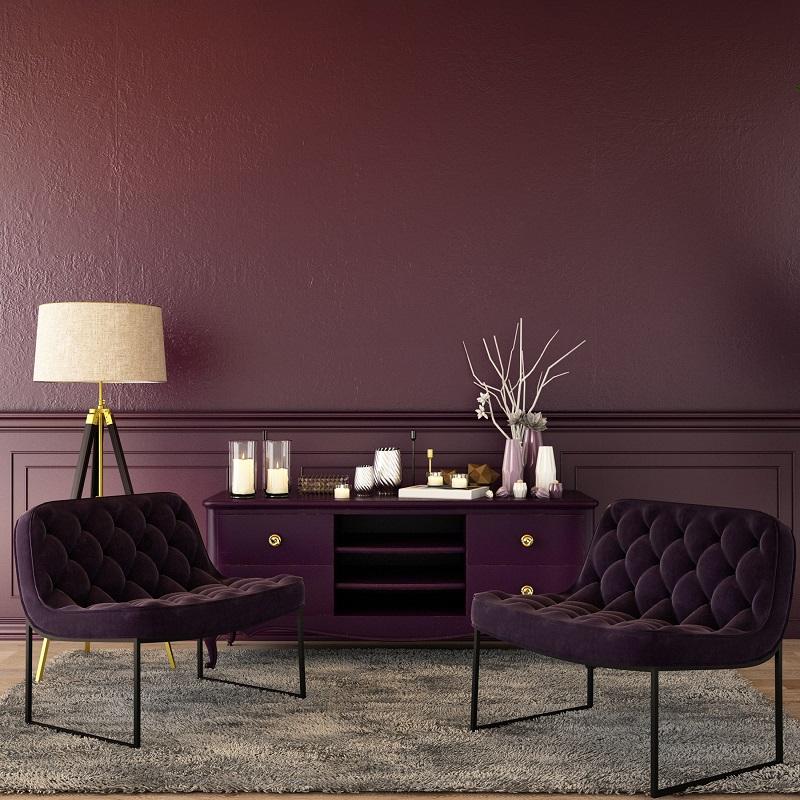 abbinamento dei colori monocromatico viola